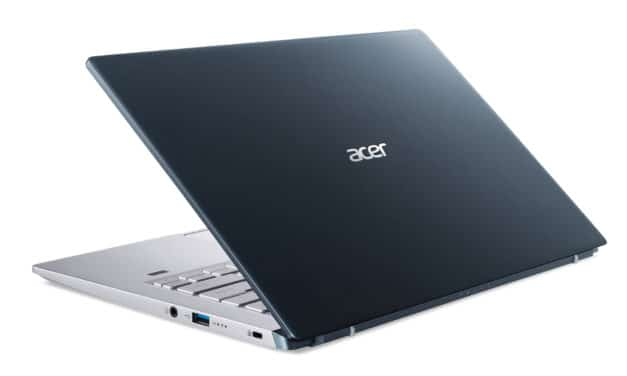 """Acer Swift X SFX14-41G-R4SX, PC portable 14"""" Pro argent bleu polyvalent AMD fin rapide et léger avec GTX 1650 (849€)"""