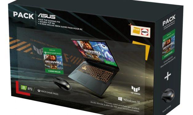 "Asus TUF Gaming F15 TUF566HM-HN080T, PC portable 15"" 144Hz gamer créateur 7h RTX 3060 Tiger Lake-H + souris + Xbox Pass (1499€)"
