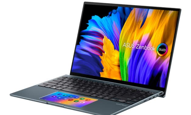 "Asus ZenBook 14X UX5400EA-KN231W, Ultrabook 14"" OLED 2.8K Retina Windows 11 polyvalent Tiger Lake Iris Xe léger rapide fin ScreenPad (1349€)"