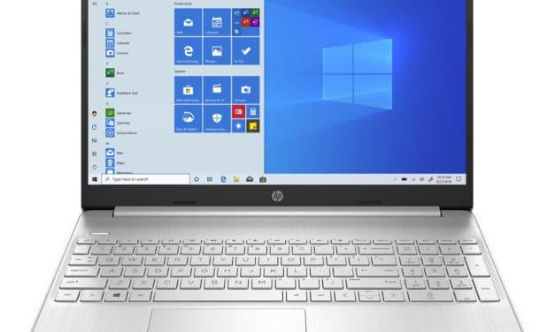 """<span class=""""nouveau"""">Nouveau 529€</span> HP 15s-eq1157nf, PC portable 15"""" polyvalent argent pas cher AMD fin rapide et léger avec SSD 512 Go et USB-C"""