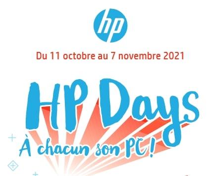 """<span class=""""tagtitre"""">HP Days - </span>HP rembourse jusqu'à 200 euros sur des PC portables avec processeur Intel ou AMD"""