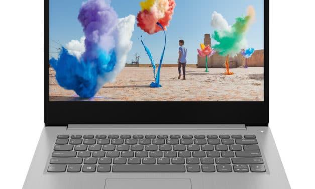"""<span class=""""nouveau"""">Nouveau 549€</span> Lenovo IdeaPad 3 14ADA05 (81W0002EFR), PC portable 14"""" argent polyvalent AMD pas cher léger rapide et fin avec SSD 512 Go"""