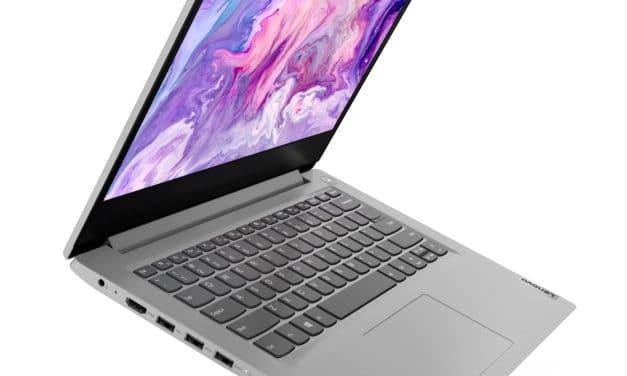 """Lenovo IdeaPad 3 14ADA05 (81W000D9FR), PC portable 14"""" argent pas cher et rapide AMD fin et léger avec SSD (429€)"""