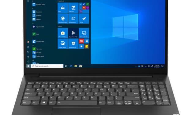 """<span class=""""nouveau"""">Nouveau 549€</span> Lenovo V15 G2 ITL (82KB0004FR), Ultrabook 15"""" polyvalent Tiger Lake noir léger rapide et fin"""
