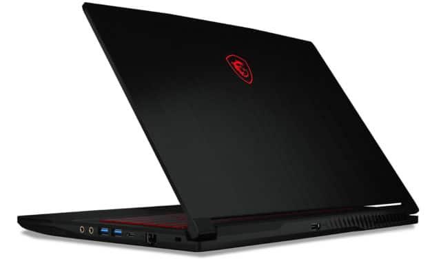 """<span class=""""nouveau"""">Nouveau 779€</span> MSI GF63 11SC-027XFR Thin, Ultrabook 15"""" polyvalent pour créer et jouer fin et léger avec Tiger Lake-H et GeForce sans Windows"""