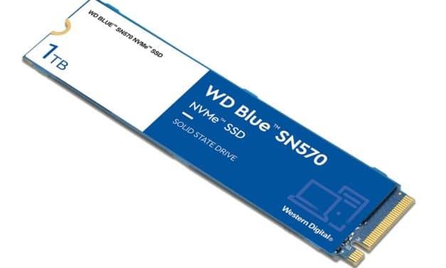 """<span class=""""tagtitre"""">Western Digital - </span>WD Blue SN570,  nouveau SSD M.2 NVMe compact pour PC portable"""