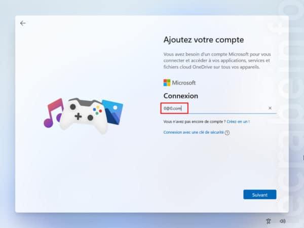Windows 11 se passer du compte Microsoft