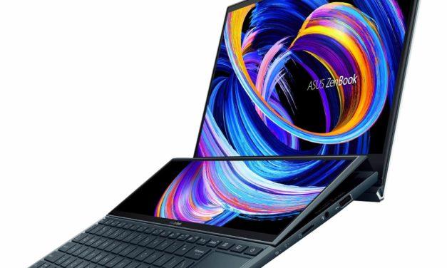 Asus ZenBook Duo UX482EA-KA064T, ultrabook 14 pouces avec 2 écrans tactiles et Iris Xe pour le multimédia (1499€)