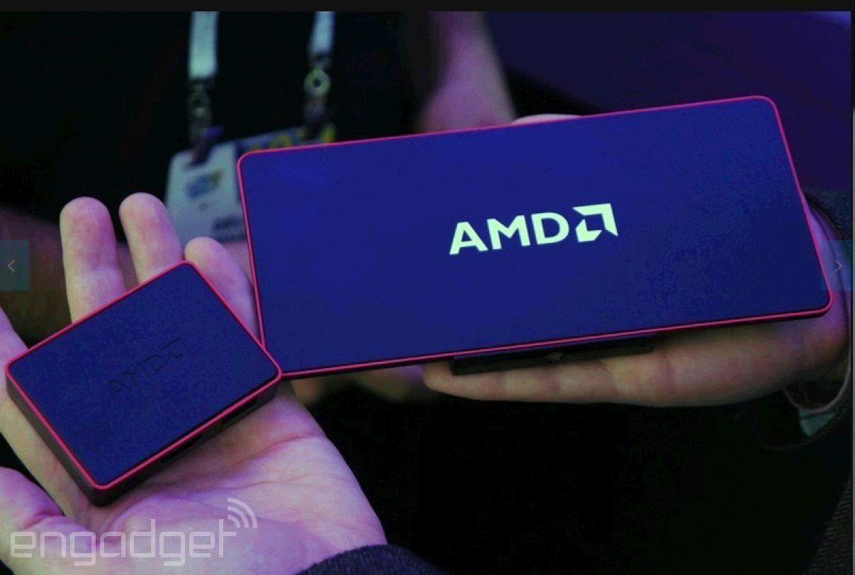 """<span class=""""tagtitre"""">CES 2014 - </span>AMD dévoile son concept PC avec APU Mullins, de la taille d'une enveloppe"""