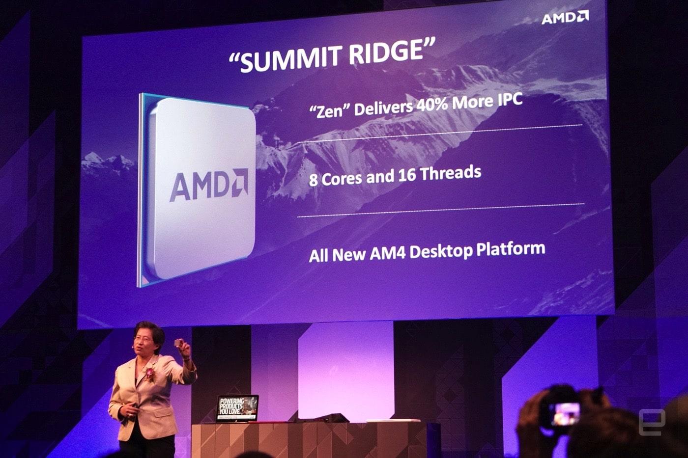 """<span class=""""tagtitre"""">Computex 2016 - </span>AMD dévoile sa puce Zen"""