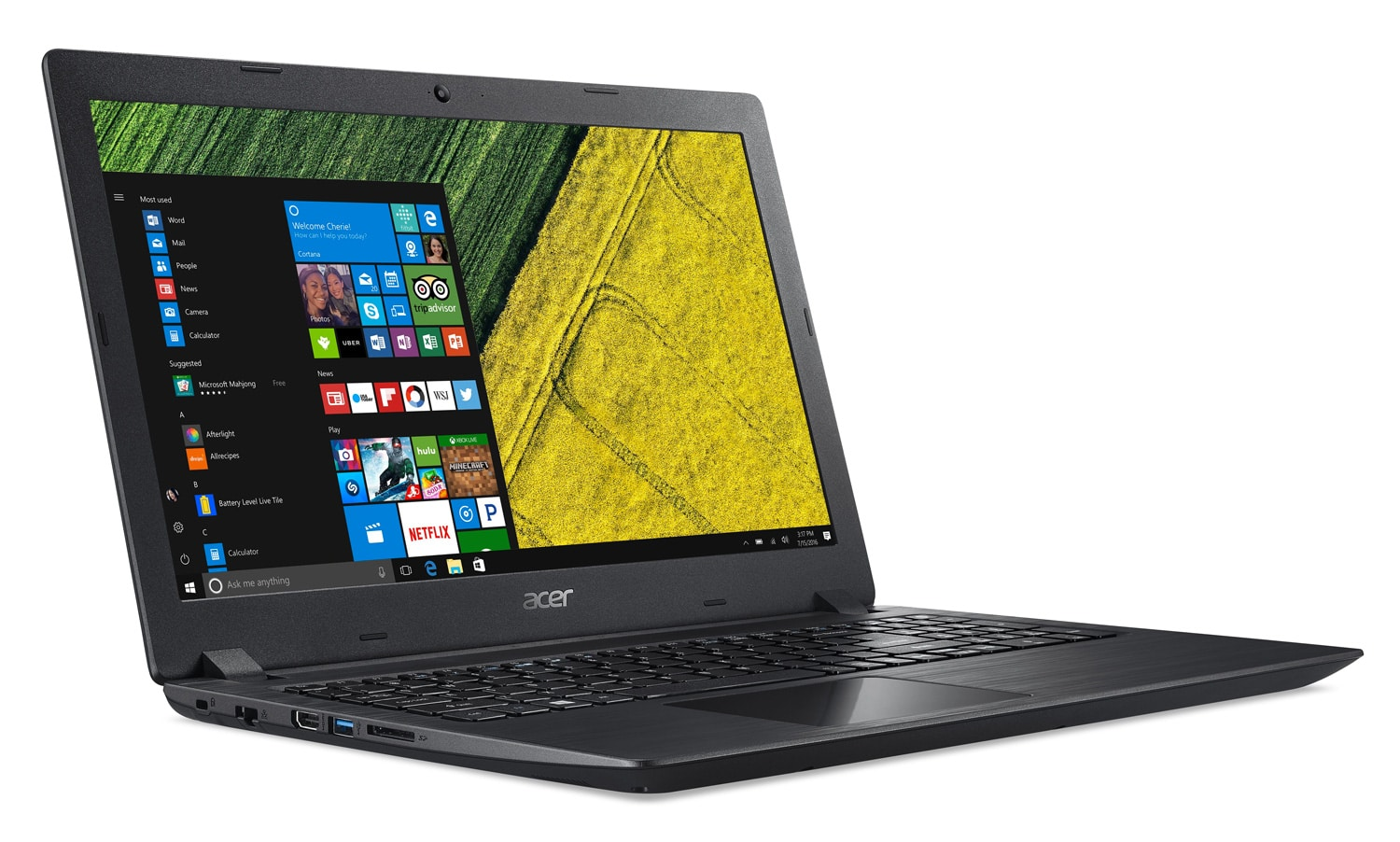 "Acer Aspire A315-51-306U, PC portable 15"" noir SSD Core i3 (429€)"
