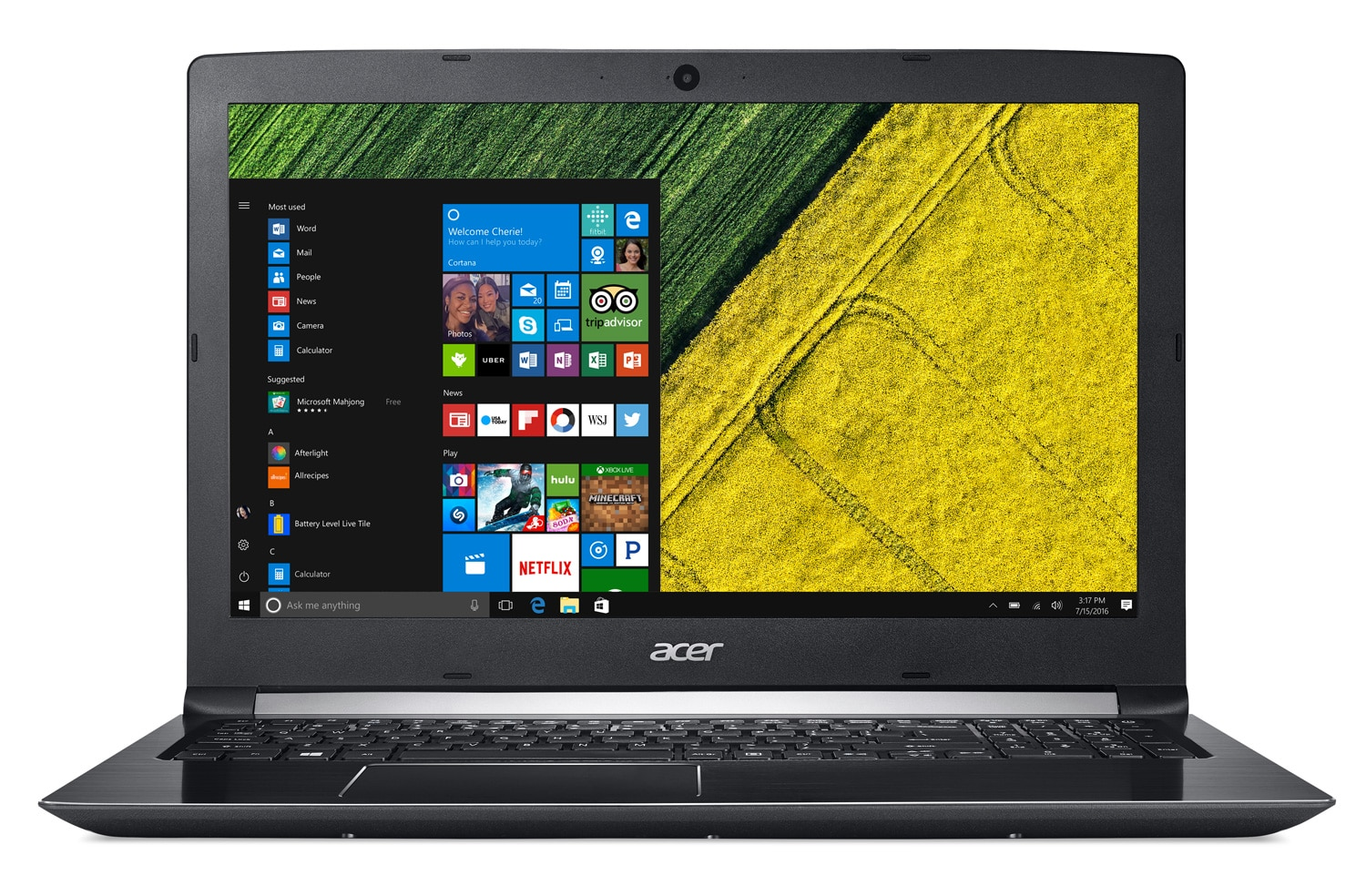 Acer Aspire A515-51-55BQ à 699€, PC portable 15 pouces IPS Full mat SSD i5 Kaby