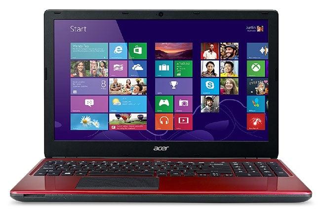 "Acer Aspire E1-572G-54204G1TMnrr en vente flash 479€, 15"" rouge : Core i5 Haswell, 1000 Go et Radeon R5 M240"
