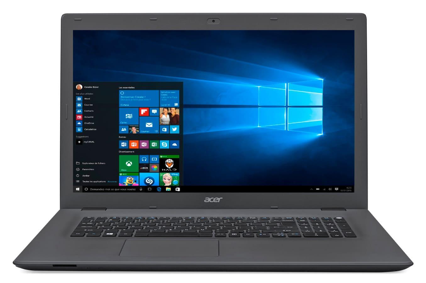 Acer Aspire E5-772-3486 à 449€, PC portable 17 pouces Core i3 noir