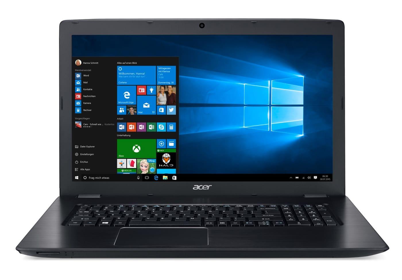 Acer Aspire E5-774G-384B à 599€, PC portable 17 pouces SSD256 940MX