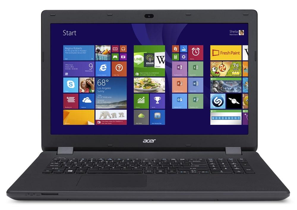Acer Aspire ES1-711-C089 à 309€, PC portable 17 pouces basique