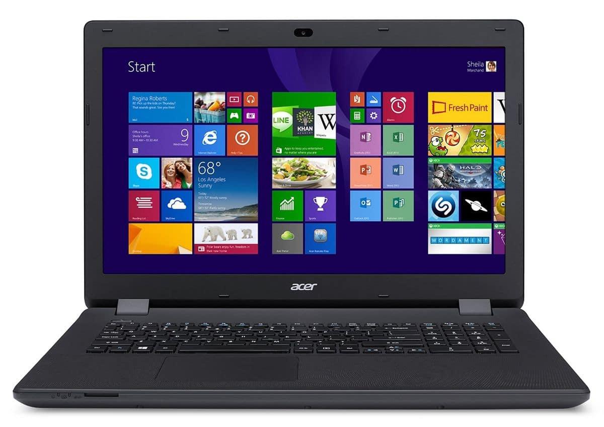 """Acer Aspire ES1-711-P4CC, 17.3"""" avec Pentium Quad Core Bay Trail et disque dur de 500 Go à 349€"""