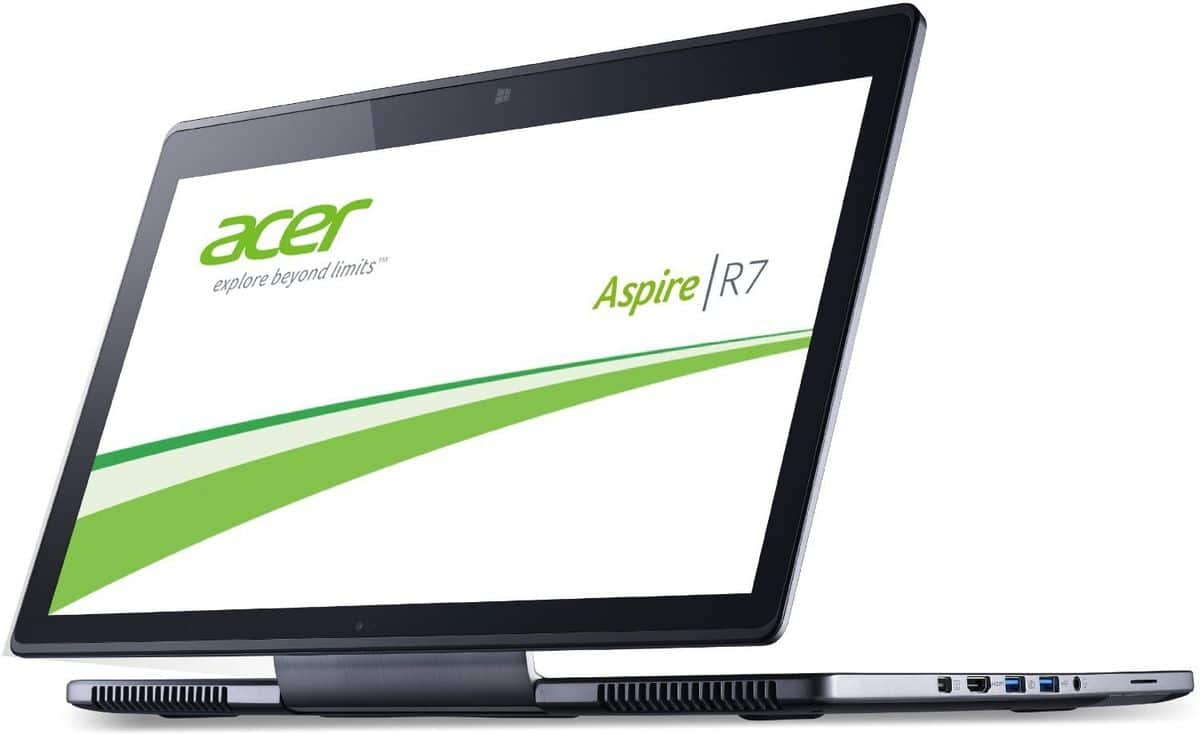 "<span class=""tagtitre"">Promo 799€ - </span>Acer Aspire R7-571-53334G75ass, 15.6"" mat IPS Full HD tactile/Tablette: i5 Ivy Bridge, 750 Go, 969€"