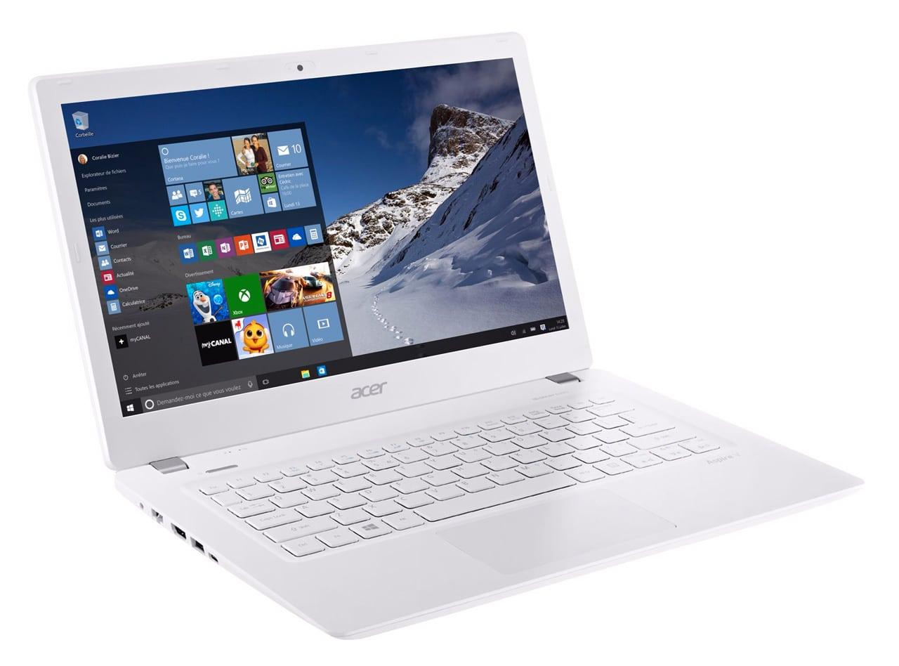 Acer Aspire V3-372T-58TH à 699€, Ultrabook 13.3 pouces Full IPS tactile Skylake
