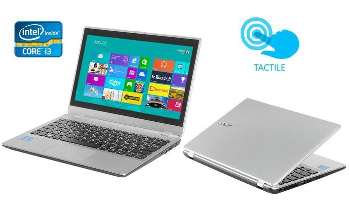 """<span class=""""toptagtitre"""">Soldes399€ ! </span>Acer Aspire V5-132P-3322Y4G50nss, 11.6"""" tactile à 479€ avec Core i3 Ivy Bridge, 500 Go"""