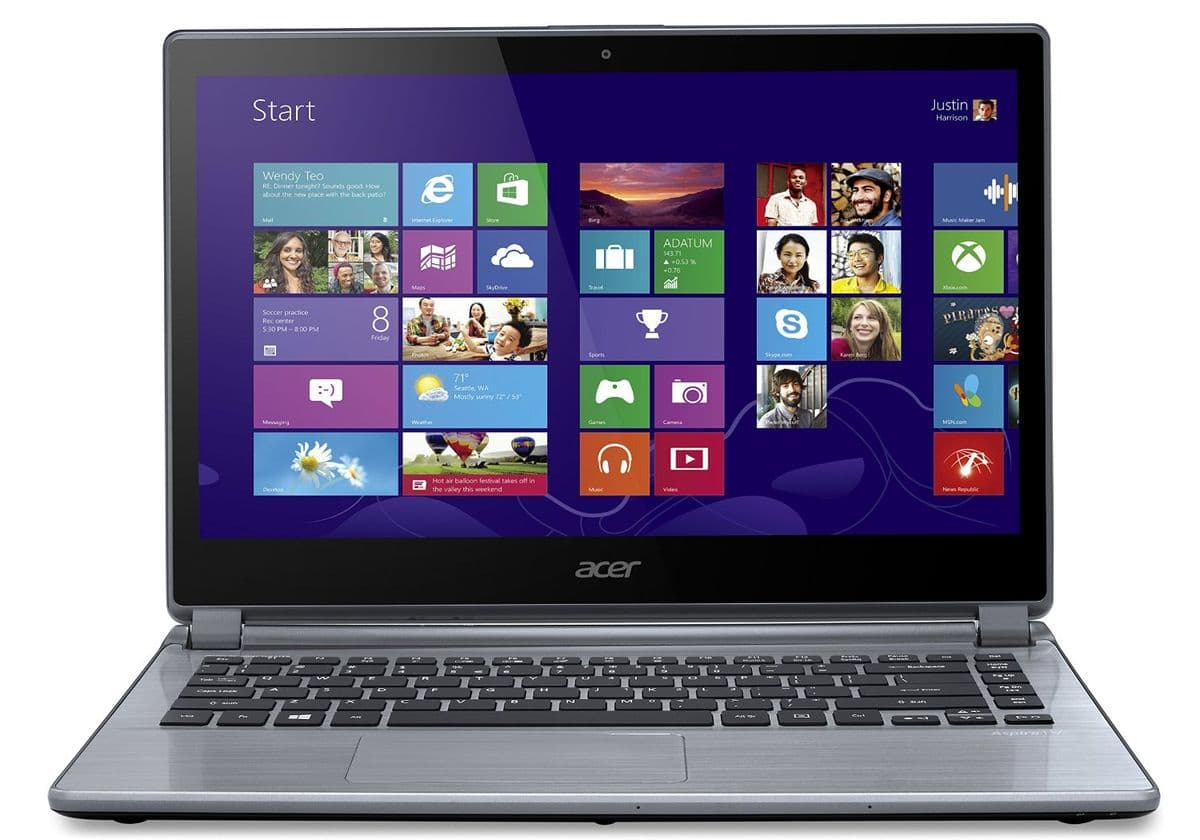 """Acer Aspire V5-473PG-34016G1Taii en vente flash à 429€, 14"""" tactile : 6 Go, Core i3 Haswell, 1 To, GeForce 820M"""