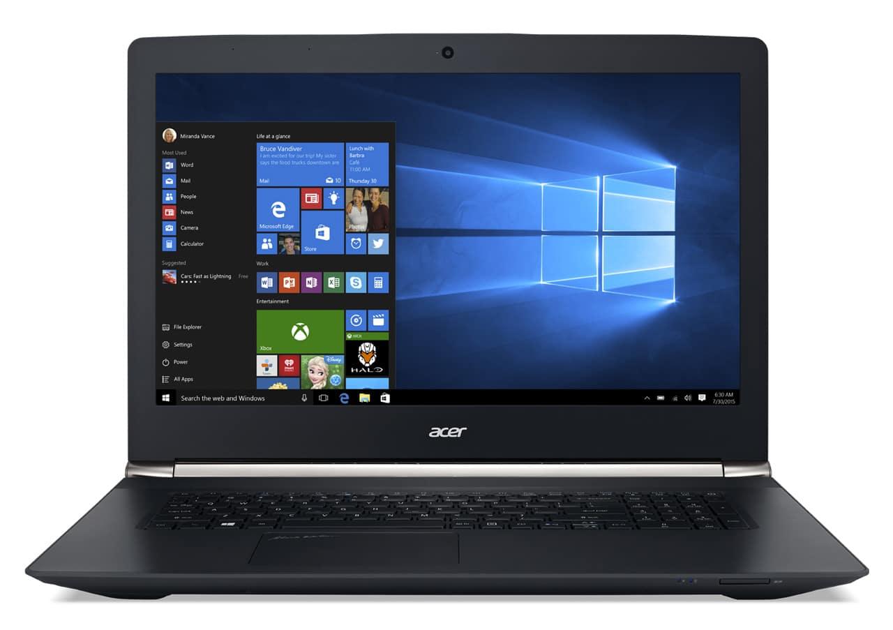 Acer Aspire VN7-792G-57WJ à 900€, PC portable 17 pouces IPS GTX 960M Quad