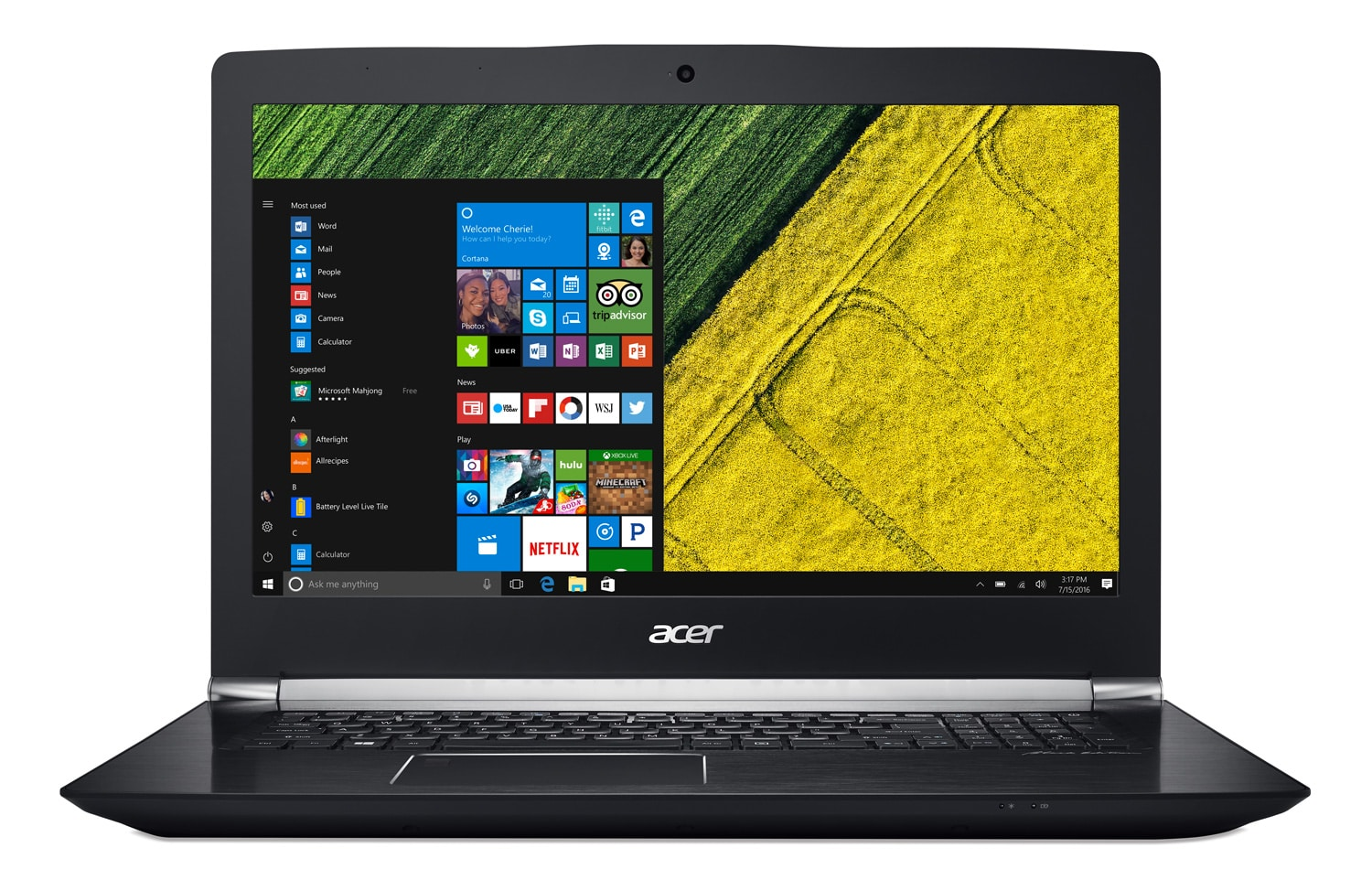 Acer Aspire VN7-793G-78WL, PC portable 17 pouces fin IPS 1050Ti SSD256 à 1399€