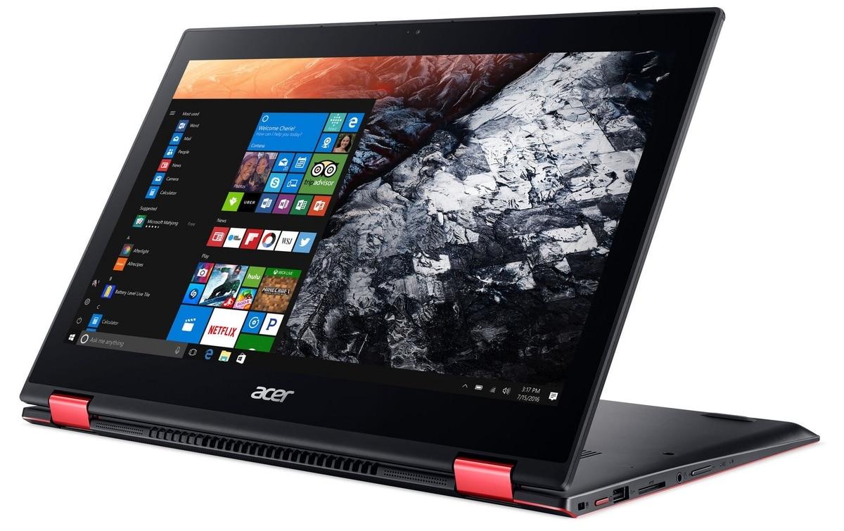Acer Nitro 5 Spin, PC 15 pouces IPS convertible Tablette avec Intel Core 8ème gen.