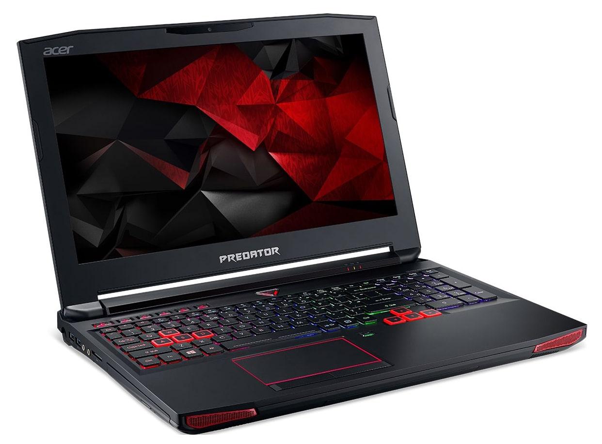 Acer Predator G9-593-56C8, PC portable 15 pouces GTX 1060 Kaby Quad à 1498€