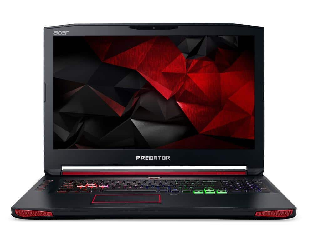 """Acer Predator G9-793-55V2, PC portable 17"""" GTX 1060 G-Sync SSD Kaby 1599€"""