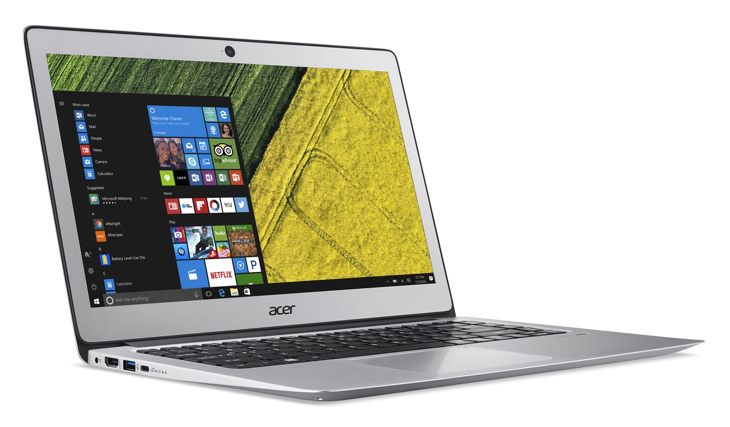 Acer Swift SF314-51-51PQ à 849€, Ultrabook 14 pouces Full IPS SSD 512 Kaby