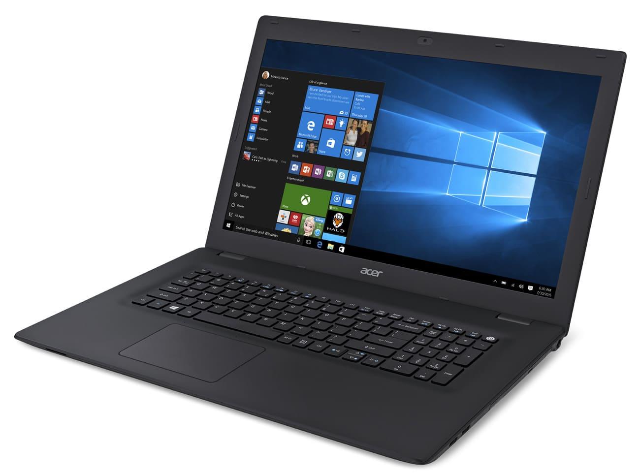 Acer TravelMate P278-M-358N à 589€, PC portable 17 pouces mat Win 7 Pro