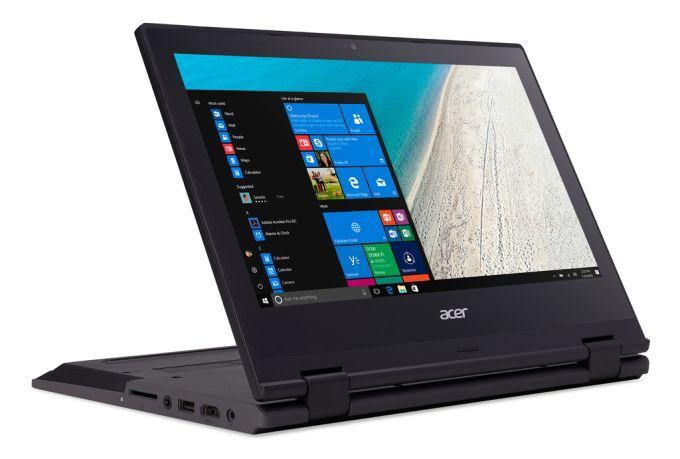 Acer TravelMate Spin B1, ultraportable 11 pouces convertible en Tablette, 13 heures