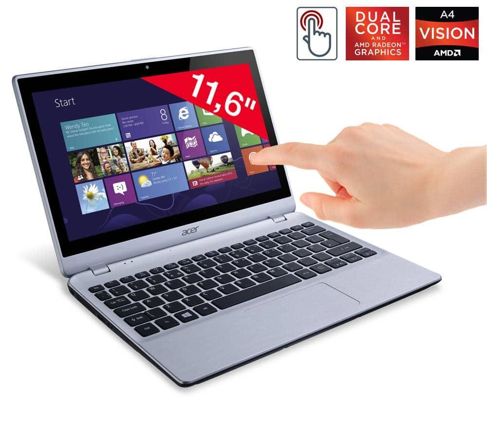 "Acer V5-122P-42154G50N vente flash 349€, 11.6"" IPS tactile : APU Temash A4 Dual Core, 500 Go"