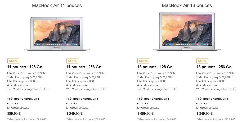 Apple met à jour ses MacBook Air et Pro avec Broadwell