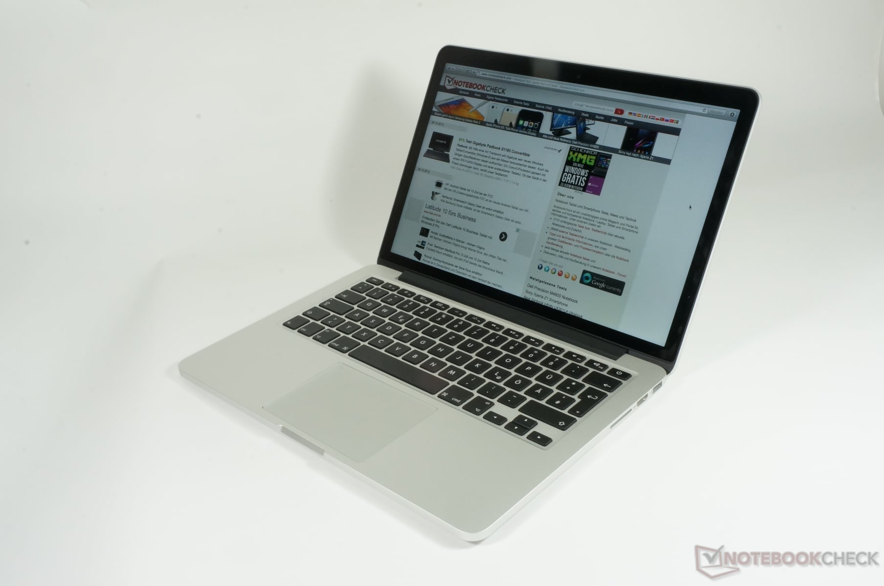 Revue de presse des tests publiés sur le Web (Apple MacBook Pro 13 Retina 2013 Haswell)