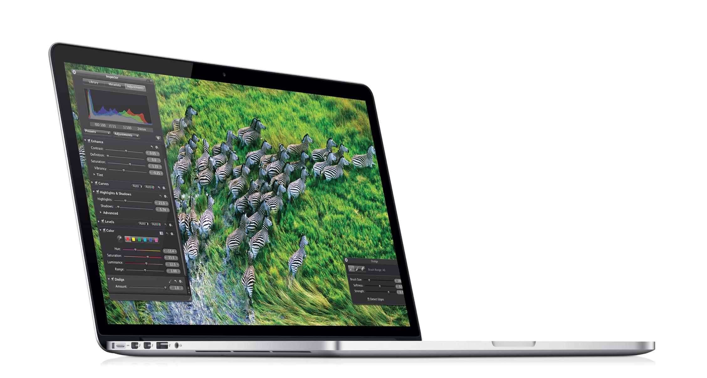 Apple renouvelle ses MacBook Pro Retina avec la plateforme Intel Haswell
