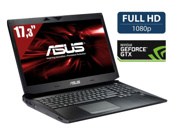 "Asus G750JH-T4135H, 17.3"" Full HD mat à 1799€ : GTX 780M, i7 Haswell, 16 Go, 1.5 To 7200tr, Blu-Ray"