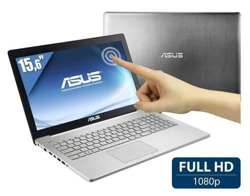 """<span class=""""tagtitre"""">Bon Plancarte cadeau 160€ - </span>Asus N550JK-CM525H, 15"""" Full HD tactile 1199€ : 16 Go, Core i7, 850M, BR"""