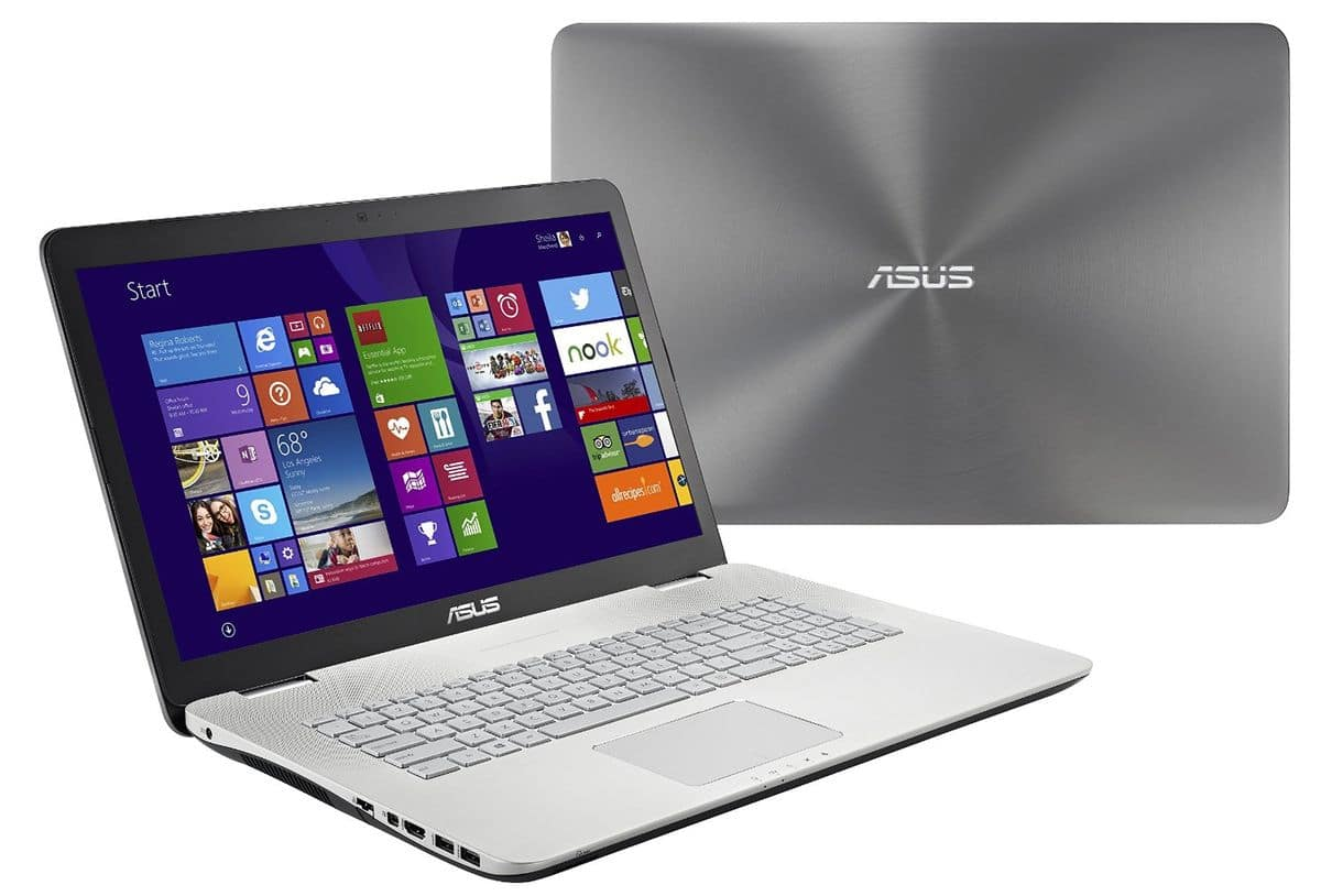 """Asus N751JK-T4125H, 17.3"""" Full HD à 1199€ : 16 Go, SSD 128 Go+1 To 7200tr, GTX 850M, Core i7 Haswell"""