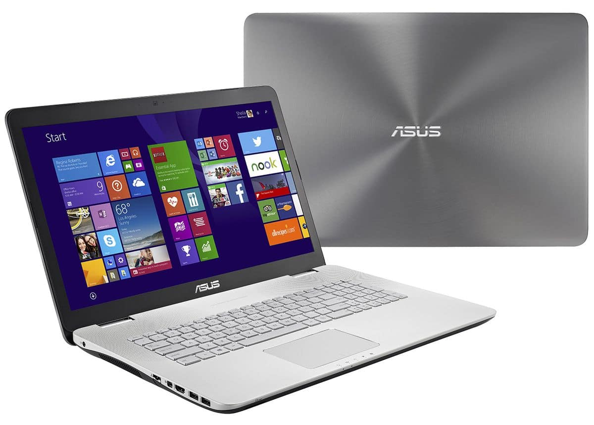 """<span class=""""tagtitre"""">Soldes 1299€ - </span>Asus N751JK-T4204H, 17"""" Full HD mat : SSD 256 Go+2x7200tr, GTX 850M, 16 Go, i7 Haswell, Blu-Ray"""
