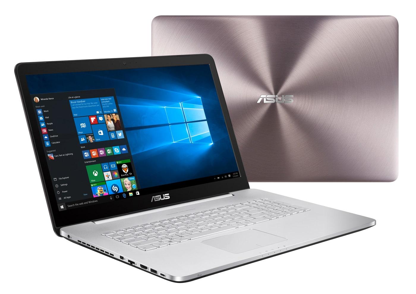 Asus N752VX-GB318T, PC portable 17 pouces polyvalent 16Go 4K i7 SSD à 1623€