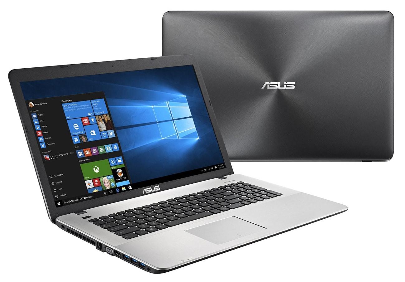 Asus R753UX-T4039T, PC portable 17 pouces GTX Core i7 8 Go vente flash 899€