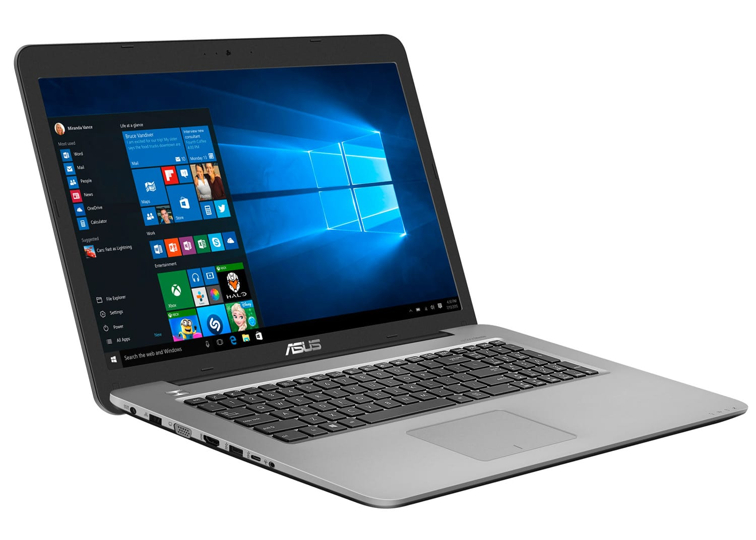 Asus R753UX-T4280T, PC portable 17 pouces i7 Kaby 950M Full IPS à 899€