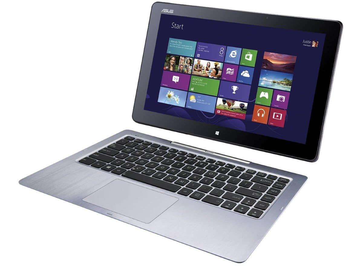 "<span class=""tagtitre""><del>Soldes 449€ - </span>Asus Transformer Book T300FA-FE001H, Ultrabook/Tablette 12""</del>"