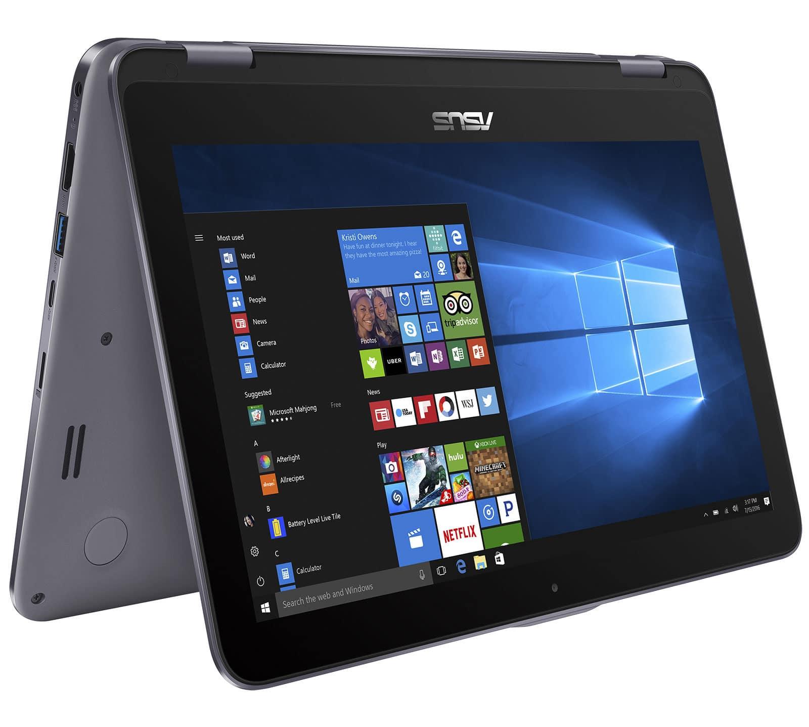 Asus VivoBook Flip TP203NA-BP027T, 11 pouces convertible léger IPS à 349€