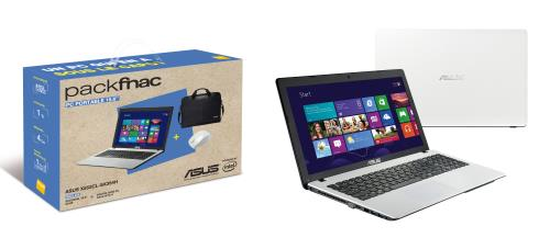 """Asus X552CL-SX354H, 15.6"""" blanc + sacoche + souris avec Core i3, disque dur de 1000 Go, GeForce 710M à 579€"""