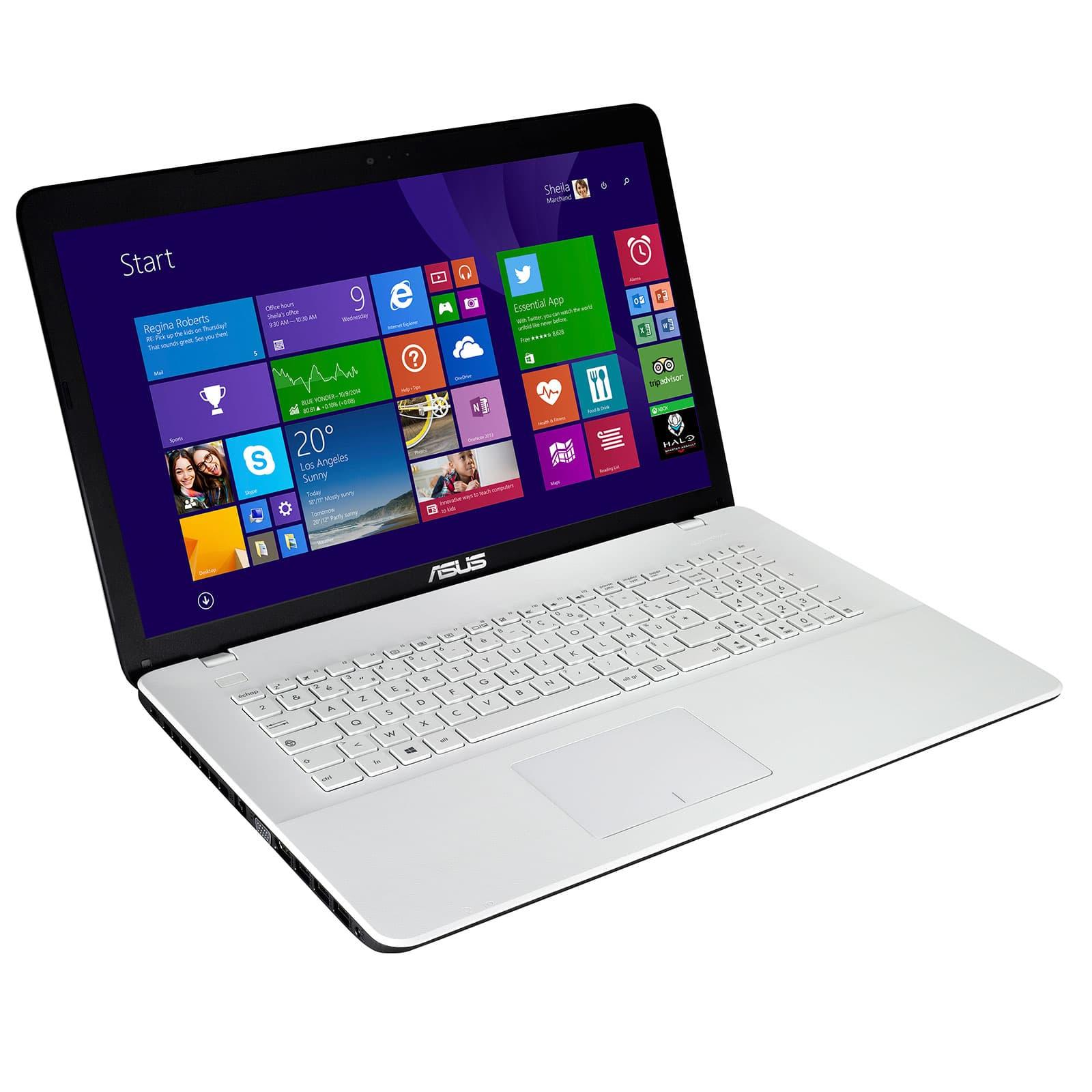 "<span class=""tagtitre"">Promo 419€ - </span>Asus X751LD-TY082H, 17.3"" blanc avec Core i5, GeForce 820M"