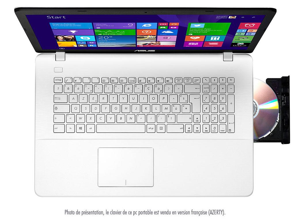Asus X751LN-TY168H, un 17 pouces blanc avec Core i3 et Geforce 840M à 529 euros