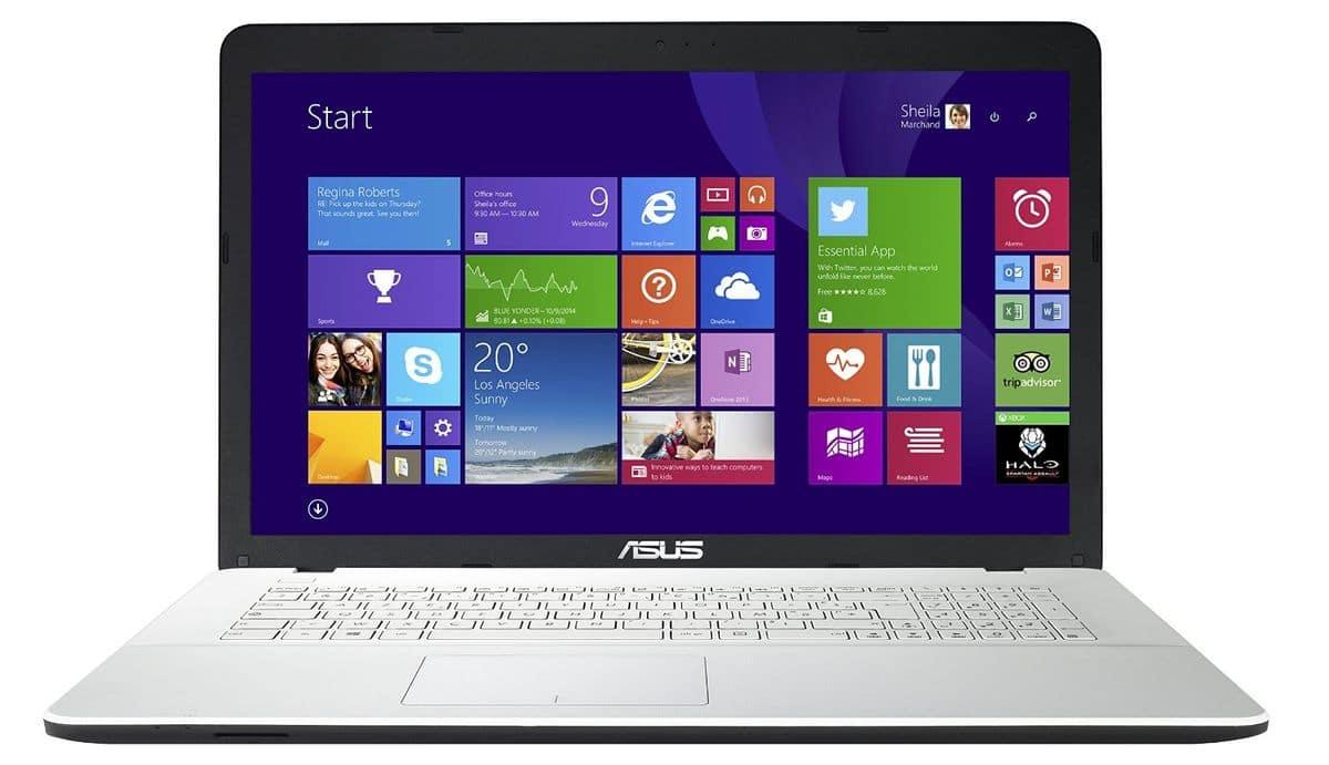 Asus X751MJ-TY005H à 479€, PC portable 17 pouces blanc